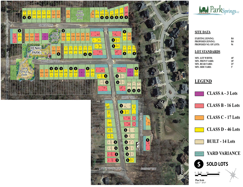 Park Springs Building Lot Map