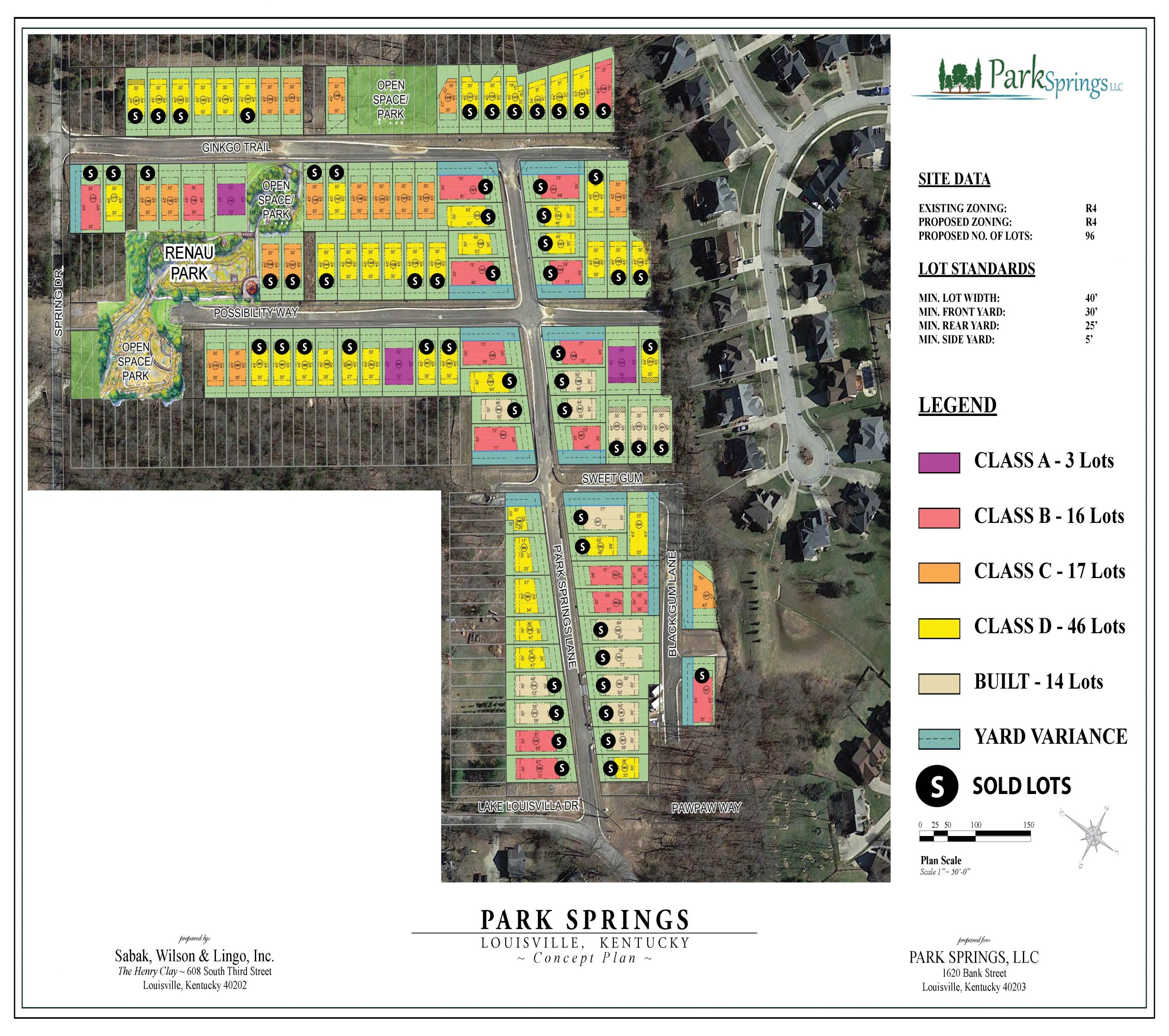 Park Springs Building Lot Map